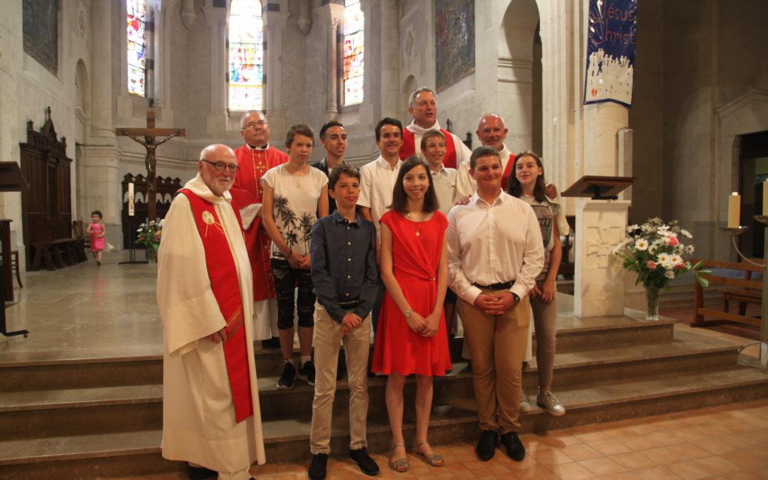 Confirmations à St Martin en Haut