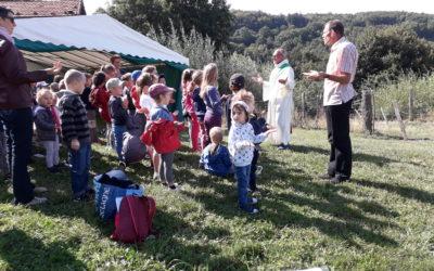 Célébration de rentrée de l'école des 4 horizons à Aveize le 7 septembre 2018