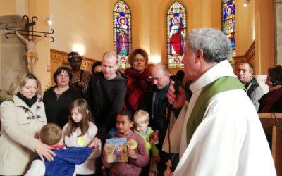 Deuxième étape de préparation de jeunes en âge scolaire au baptême.