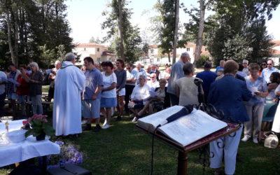 messe en plein air le dimanche 4 août à Larajasse