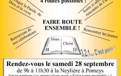 Grand rassemblement de la paroisse Sainte Thérèse des Hauts du Lyonnais