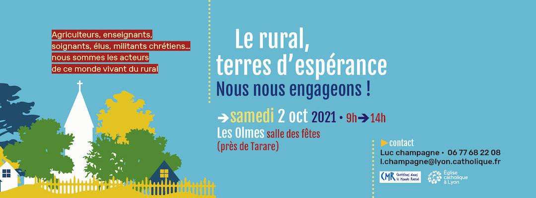 samedi 2 octobre : journée diocésaine; le rural, terres d'espérance